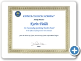 "Paideia Classical Academy ""Outstanding Gardening Teacher Award"""
